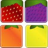 плодоовощи 1 собрания придали квадратную форму Стоковые Изображения