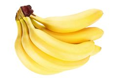 Плодоовощ банана на белизне Стоковое Изображение