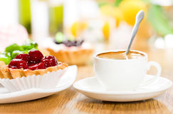 плодоовощ десерта кофе Стоковые Изображения RF