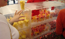 Плодоовощ для сбывания в рынке Стоковое Фото