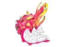 Плодоовощ дракона изолированный на белой предпосылке Стоковая Фотография