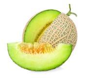 Плодоовощ дыни изолированный на белой предпосылке Стоковое Изображение RF