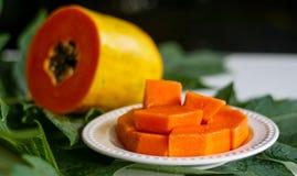 Плодоовощ папапайи стоковое изображение