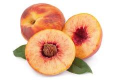 Плодоовощ персика на белизне Стоковое Фото