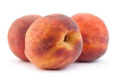 Плодоовощ персика на белизне Стоковое Изображение
