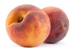 Плодоовощ персика на белизне Стоковые Изображения RF