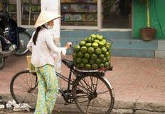 плодоовощ продавая женщин Вьетнама Стоковая Фотография
