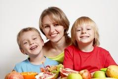 плодоовощ семьи счастливый Стоковые Изображения