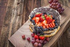 плодоовощ торта праздничный стоковое изображение