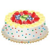 плодоовощ торта иллюстрация штока