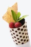 плодоовощ чашки выходит мята Стоковое фото RF