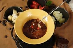 плодоовощ fondue шоколада Стоковые Изображения RF
