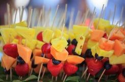 Плодоовощ Kebabs Стоковые Фото