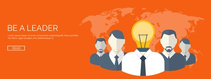 Плоская иллюстрация вектора руководитель принципиальной схемы конкуренции вне стоя Генерация идей Творческие способности и сыгран иллюстрация штока