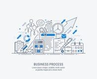 Плоская иллюстрация лини-искусства бизнес-процесса бесплатная иллюстрация