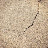 Плоская и треснутая поверхность песчаного пляжа Стоковое Изображение