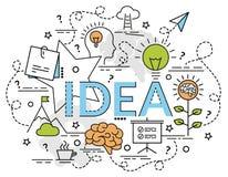 Плоская красочная идея проекта для идеи Стоковое Изображение
