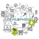 Плоская красочная идея проекта для развития Стоковое Изображение RF