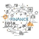 Плоская красочная идея проекта для финансов и денег Стоковые Изображения RF