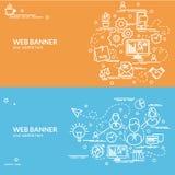 Плоская красочная идея проекта клиента Идея Infographic Стоковые Изображения