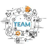 Плоская красочная идея проекта команды Стоковая Фотография RF