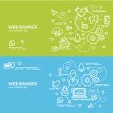 Плоская красочная идея проекта социальной сети Стоковые Изображения RF