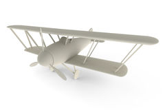 плоская представленная игрушка 3d белая Стоковое Изображение RF