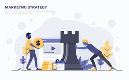 Плоская современная иллюстрация концепции - маркетинговая стратегия иллюстрация штока