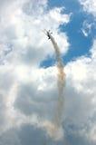 плоская тропка дыма Стоковое Фото