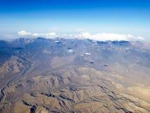 Плоские горы Невады взгляда окна стоковое изображение rf