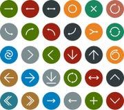 Плоские значки стрелки бесплатная иллюстрация