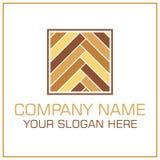 Плоские ламинат/партер логотипа вектора стиля для Настила Компании иллюстрация вектора
