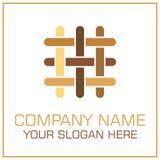 Плоские партер/ламинат логотипа вектора стиля для Настила Компании иллюстрация вектора