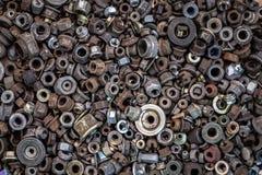 Плоские положенные крепежные детали металла стоковые изображения rf