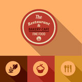 Плоские точные элементы дизайна еды бесплатная иллюстрация