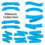Плоские установленные знамена лент вектора иллюстрация штока