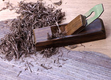 плоские shavings деревянные Стоковое Изображение RF