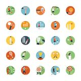 Плоский комплект значка значка спорт Стоковое Изображение RF