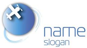 Плоский логос Стоковое Изображение RF