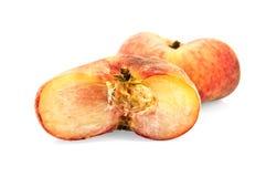 плоский персик 2 Стоковые Изображения