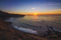 Плоский пункт утеса после захода солнца стоковая фотография rf
