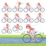 Плоский тип прямой велосипед women_road волос челок Стоковые Фото