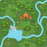 Плоский Юговосток-азиатский вариант a картины карты джунглей стоковое изображение rf