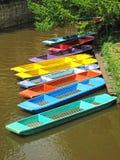 Плоскодонки на реке в Оксфорде Стоковые Фотографии RF
