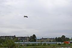 Плоское летание над авиапарком Courtenay Стоковое Изображение RF