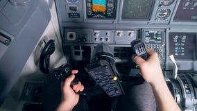Плоское пилотирование в aiplane сток-видео