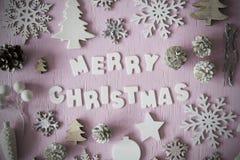 Плоское положение, письма с с Рождеством Христовым, рамка Стоковое Изображение
