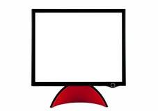плоское экран компьютера Стоковое Фото