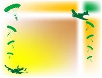 плоскости парашютов Стоковое Фото