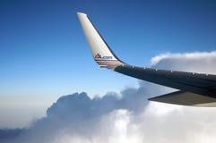 плоскость американца авиакомпаний Стоковое фото RF
